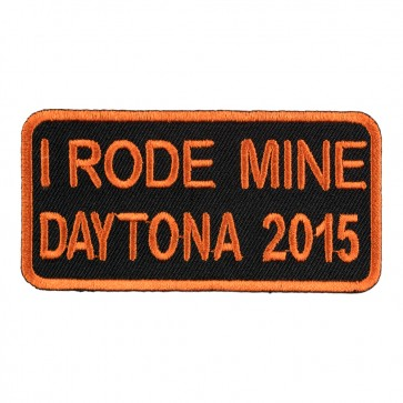 2015 Daytona Bike Week I Rode Mine Orange Event Patch