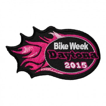 2015 Daytona Bike Week Pink Flames Event Patch