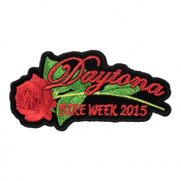 2015 Daytona Bike Week Red Rose & Stem Event Patch