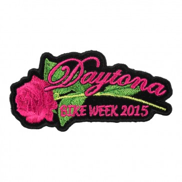 2015 Daytona Bike Week Pink Rose & Stem Event Patch