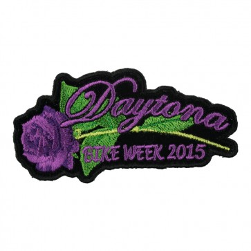 2015 Daytona Bike Week Purple Rose & Stem Event Patch