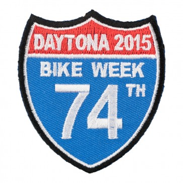 2015 Daytona Bike Week 74th Annual Road Sign Event Patch