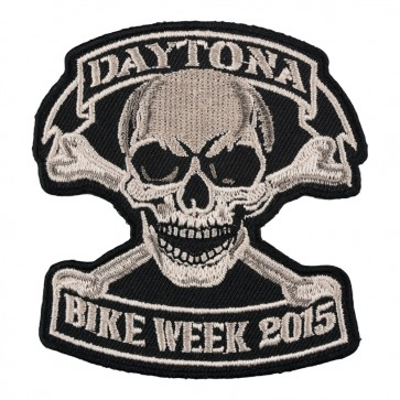 2015 Daytona Bike Week Tan Skull & Crossbones Event Patch
