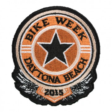 2015 Daytona Bike Week Sheriff Star Black & Orange Event Patch