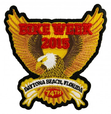 Bike Week Gold Eagle Patch