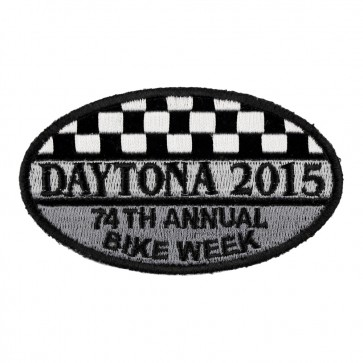 2015 Daytona Bike Week 74th Annual Oval Checker Flag Event Patch