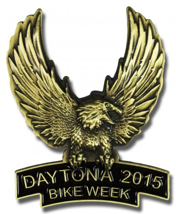 Gold Upwing Eagle Bike Week Event Pin