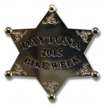 Silver Sheriff Star Bike Week Pin