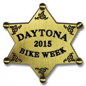 Gold Star Bike Week Pin