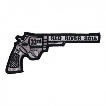 Sew On 2015 Red River Right Revolver Hand Gun Event Patch