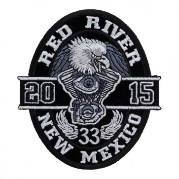 33rd Anniversary 2015 Red River Black Oval Eagle Event Patch