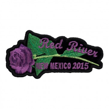 Sew On 2015 Red River Purple Rose & Stem Event Patch