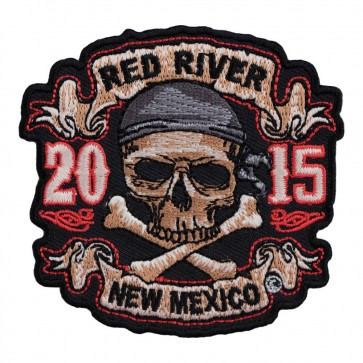 Sew On 2015 Red River Skull & Crossbones Pirate Event Patch
