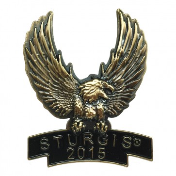 Gold Eagle 75th Anniversary Sturgis Black Hills Rally Event Pin