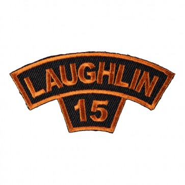 Embroidered 2016 Laughlin Tab Orange Rocker Event Patch