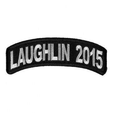 Embroidered 2015 Laughlin White Rocker Event Patch