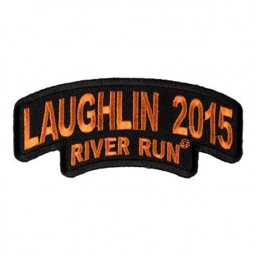2016 Embroidered Laughlin River Run Stacked Orange Rocker Event Patch
