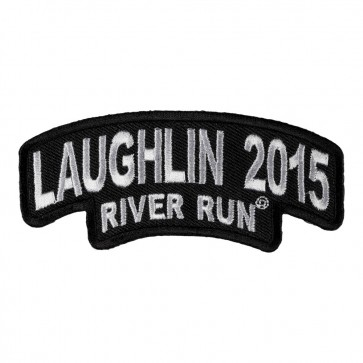 Laughlin River Run Stacked Black & White Rocker 33rd Anniversary Patch