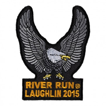 Iron On 2015 Laughlin River Run Silver Eagle Upwing Event Patch