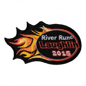 Laughlin River Run 33rd Anniversary Orange Flames Event Patch