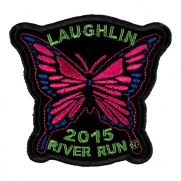 Sew on 2015 Laughlin River Run Pink Butterfly Event Patch