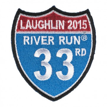Sew On 2015 Laughlin River Run Road Sign Event Patch