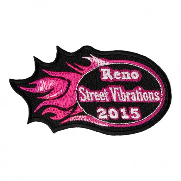 2015 Street Vibrations Reno Pink Flames Patch
