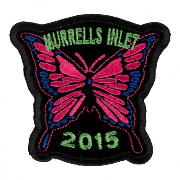 Embroidered 2015 Murrells Inlet Pink Butterfly Event Patch