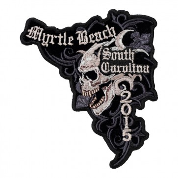 Embroidered 2015 Myrtle Beach Marble Skull Event Patch