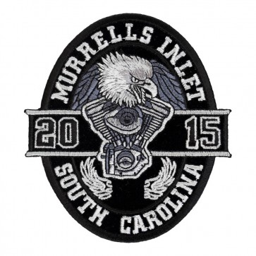 2015 Murrells Inlet Black Oval Eagle Iron On Event Patch