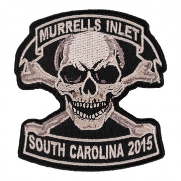 2015 Embroidered Murrells Inlet Tan Skull & Crossbones Event Patch