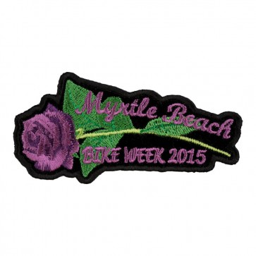 2015 Myrtle Beach Purple Rose & Stem Embroidered Event Patch
