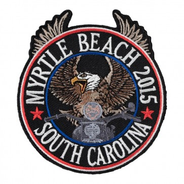 2015 Embroidered Myrtle Beach Riding Eagle Patriotic Event Patch