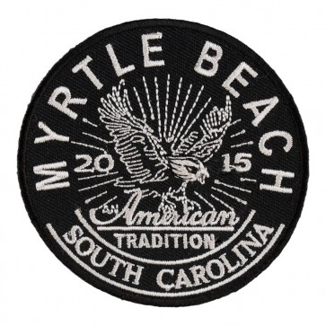 2015 Myrtle Beach American Tradition Eagle Embroidered Event Patch