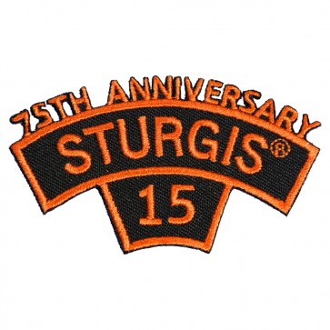 2015 Sturgis 75th Anniversary Orange Rocker & Tab Embroidered Event Patch