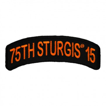 2015 Sturgis 75th Anniversary Orange Rocker Embroidered Event Patch