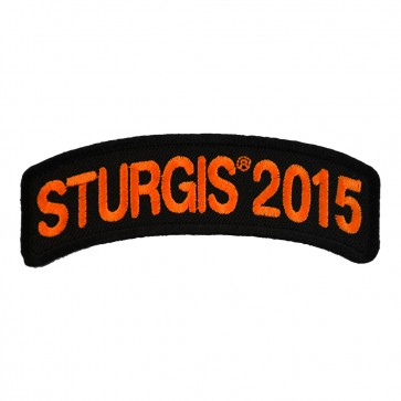 2015 Sturgis Motorcycle Rally Orange Rocker Embroidered Event Patch