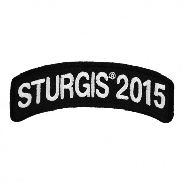 2015 Sturgis Motorcycle Rally White Rocker Embroidered 75th Anniversary Event Patch