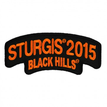 2015 Sturgis Black Hills Rally Orange Rocker Embroidered Event Patch