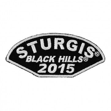75th Anniversary Sturgis Black Hills Rally Half Moon White Event Patch