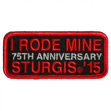2015 Sturgis 75th Anniversary I Rode Mine Red Embroidered Event Patch