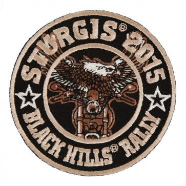 2015 Sturgis Motorcycle Rally Eagle Biker Round Embroidered Event Patch