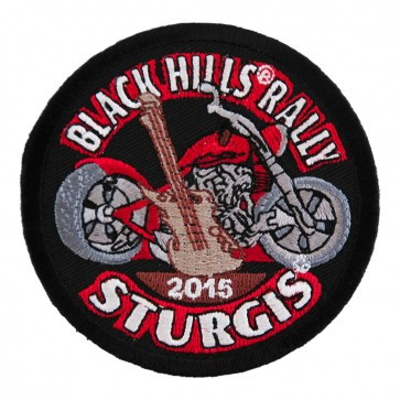 2015 Sturgis Black Hills Rally Guitar & Motorcycle Sew On Event Patch