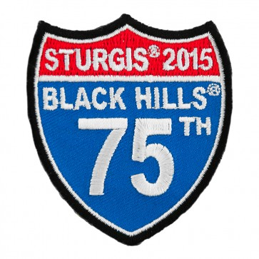 2016 Sturgis 75th Black Hills Rally Road Sign Embroidered Event Patch