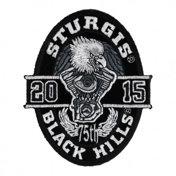 2015 Sturgis 75th Black Hills Rally Oval Eagle Embroidered Event Patch