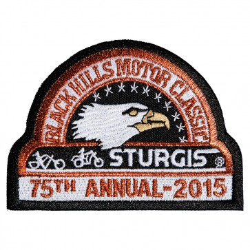 Embroidered 2015 Sturgis Official Black Hills Motor Classic Eagle Event Patch