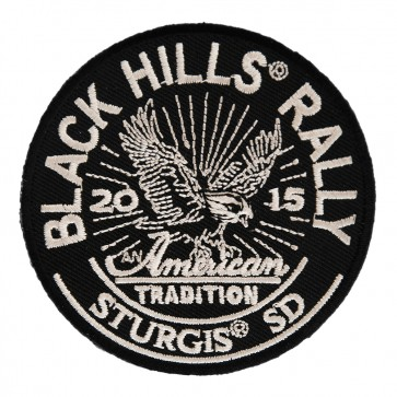 2015 Sturgis Black Hills Rally American Tradition Eagle Embroidered Tan Event Patch