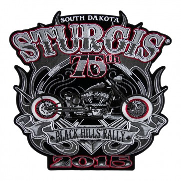 2015 Sturgis 75th Anniversary Motorcycle Rally Vintage Motorcycle Spade Event Patch