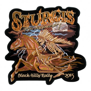 2015 Embroidered Sturgis 75th Black Hills Rally Native American Horse Event Patch