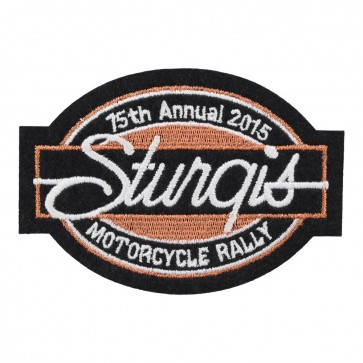 2015 Sturgis Black Hills Rally 75th Anniversary Bar & Oval Event Patch
